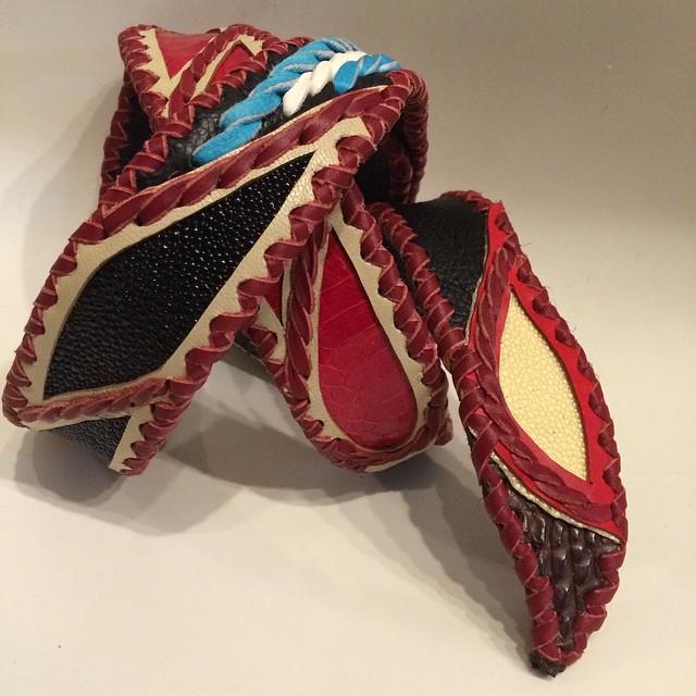 Bobby Art Leather Belt TsuBaSa